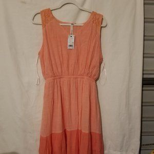 NY Collection Tri-Color Pink Maxi Dress PL NWT